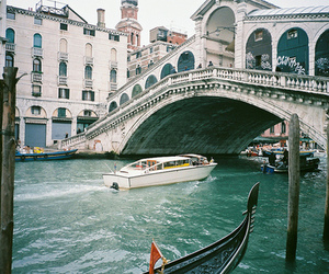 venice, boat, and photography image