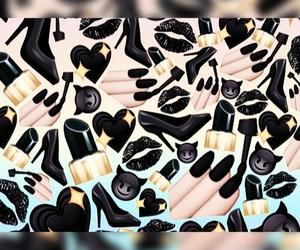 black, emojis, and wallpaper image