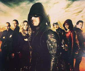 arrow, Black Canary, and oliver queen image