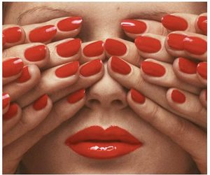 lipstick, nail, and red image