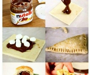 diy, marshmallow, and nutella image