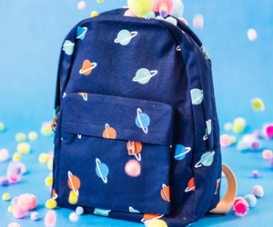 bag, glitter, and planets image