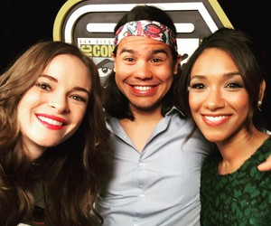 danielle panabaker, the flash, and caitlin snow image