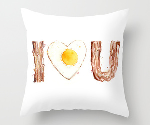 art, bacon, and bedroom image