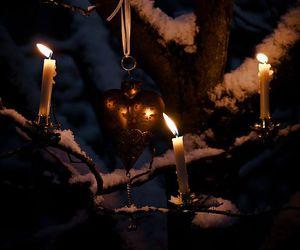 снег, зима, and свечи image