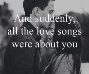 love, couple, and love song image