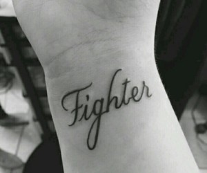 fighter and tattoo image
