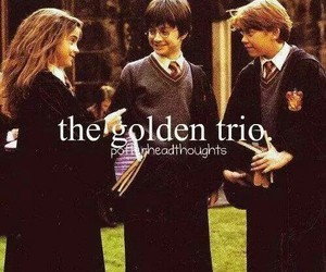 harry potter, ron weasley, and the golden trio image
