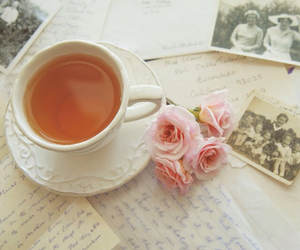 tea, vintage, and rose image