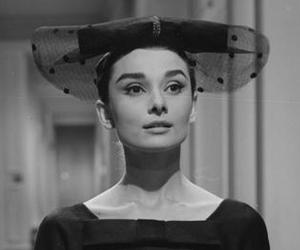 1957, audrey hepburn, and black and white image