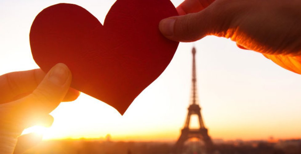eiffel, heart, and paris image