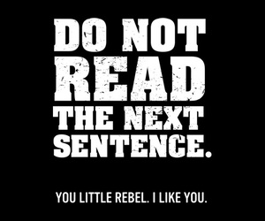 rebel, read, and funny image
