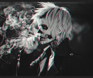 smoke, black and white, and boy image