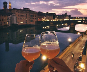 travel, couple, and drink image