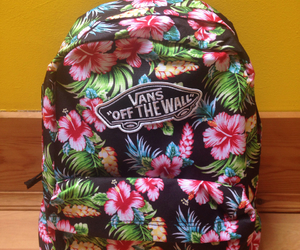 bag, colorful, and floral image