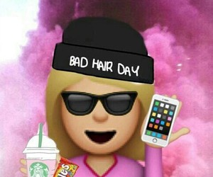 emoji, starbucks, and iphone image