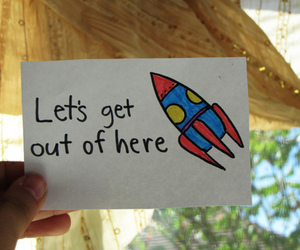 rocket, text, and quote image