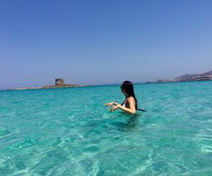 bikini, blue, and clear image
