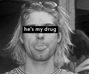 kurt cobain, nirvana, and drugs image