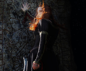 nordic, medieval girl, and pagan . medieval image