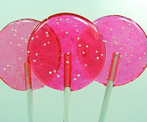 pink, candy, and lollipop image