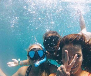 friends, summer, and water image