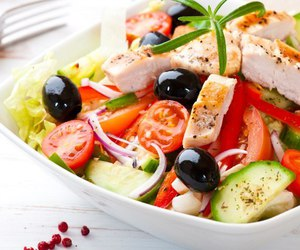 Chicken, Greece, and healthy image