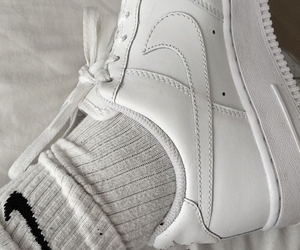 black and white, nike, and pale image