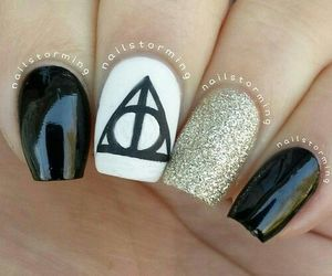 nails, harry potter, and black image