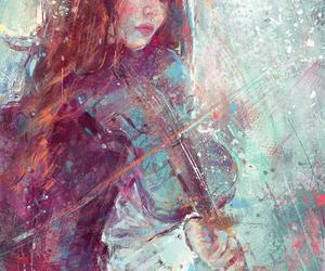 violin, art, and music image