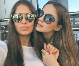 besties, bff, and glasses image