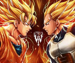 anime, dragon ball z, and goku image