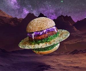 hamburger, space, and food image