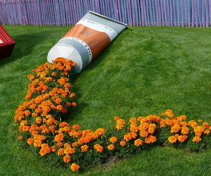 flowers, orange, and art image