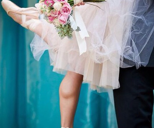 wedding, ballet, and flowers image