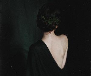 girl, dark, and back image