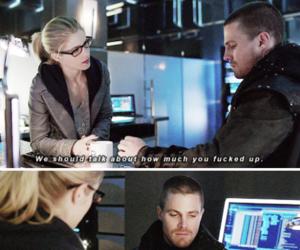 arrow, Felicity, and lol image