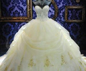 beautiful, wedding dress, and elegant image