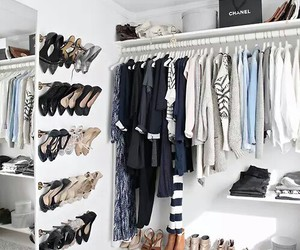 bags, closet, and shoes image