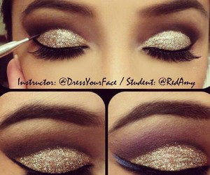 glitter, makeup, and eyes image