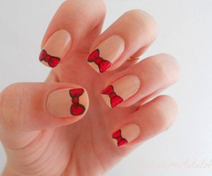 nails, bow, and red image