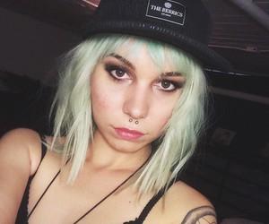 alt girl, blue hair, and mija image