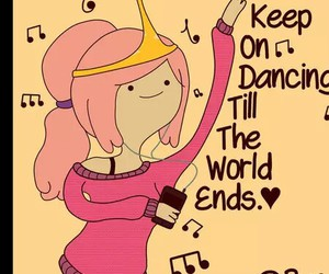 adventure time, music, and pink image