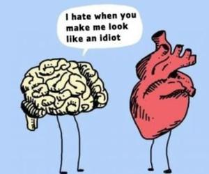 heart, brain, and quotes image