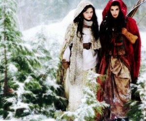 snow white, once upon a time, and red riding hood image
