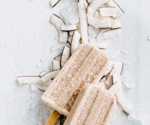 food, coconut, and ice cream image