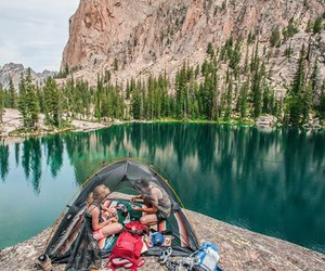 adventure, camping, and couple image