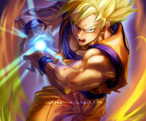 anime, fanart, and goku image