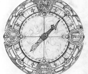 compass, drawing, and steampunk image