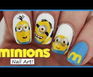 beauty, cute nails, and despicable me image